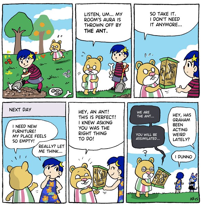 Animal Crossing, New Leaf, Graham, ant, comic
