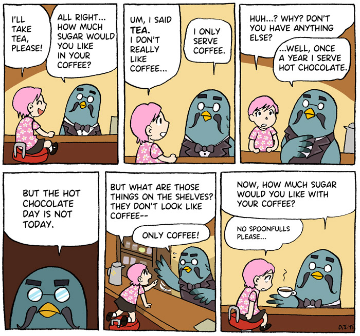 Animal Crossing, New Leaf, Brewster, Roost Cafe, comic