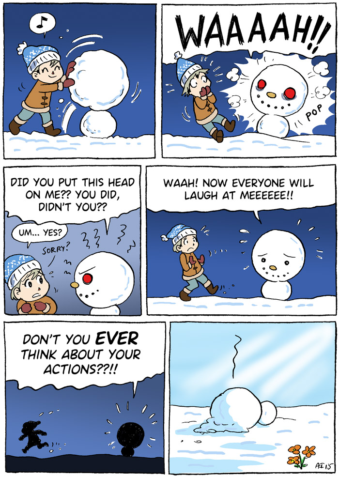 Animal Crossing, New Leaf, Snowtyke, Snow people, comic